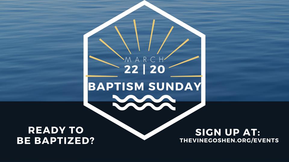 Baptism Sunday 2020