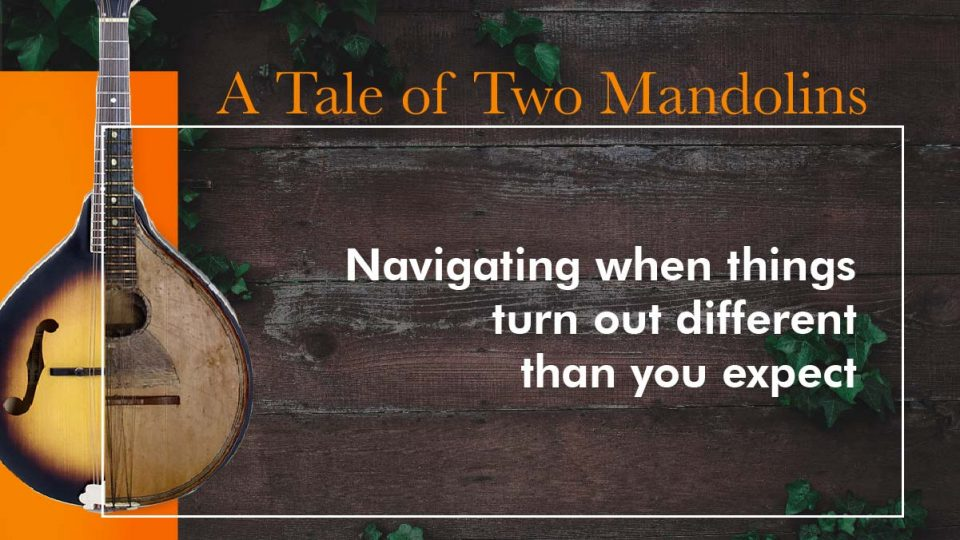A Tale of Two Mandolins Sermon Banner