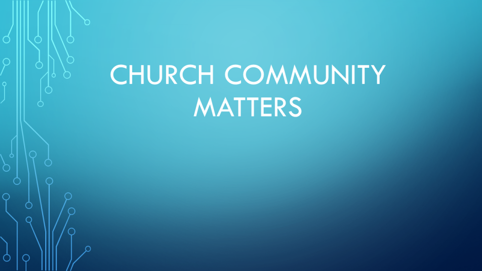 Church Community Matters