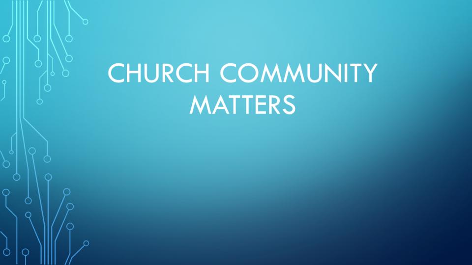 Church Community Matters