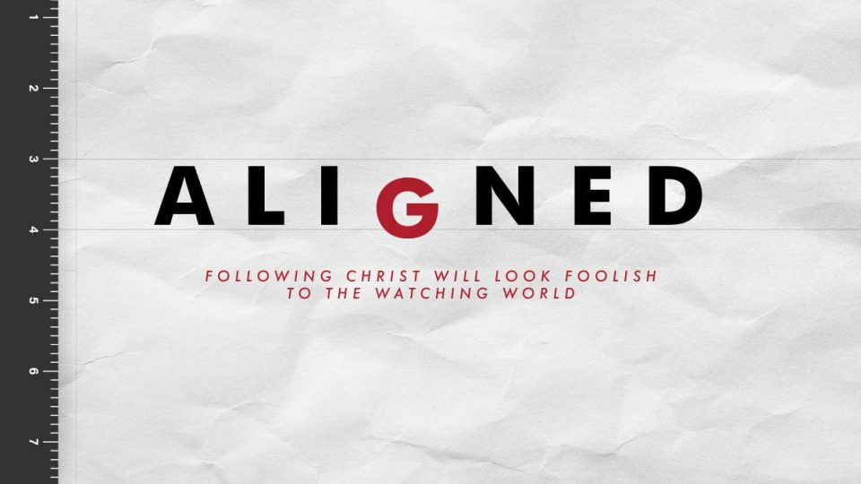 Aligned: following Christ Will Look Foolish the The Watching World