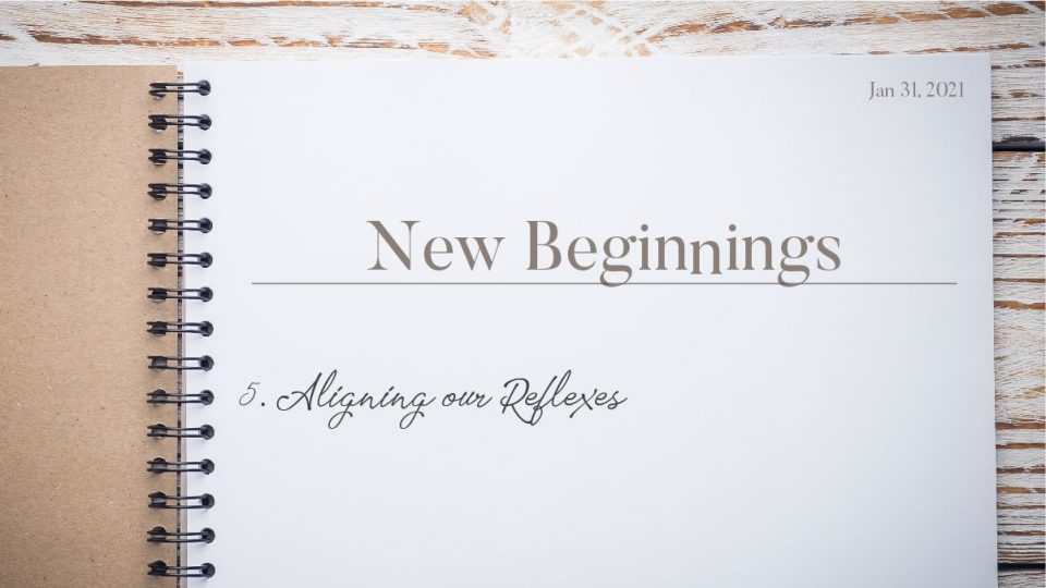 New Beginnings - Aligning Our Reflexes